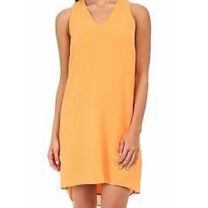 DKNYC ORANGE SHIFT DRESS
